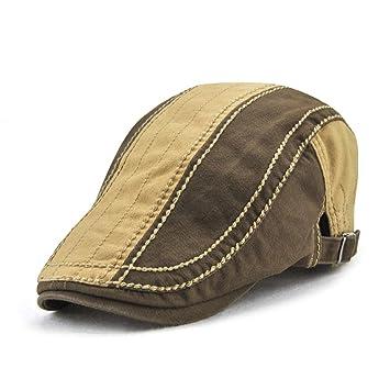KDFLGE cappello Cappello Berretto da Uomo in Cotone Patchwork Moda di Alta  qualità Cappello Retro Berretto c2171679af1c