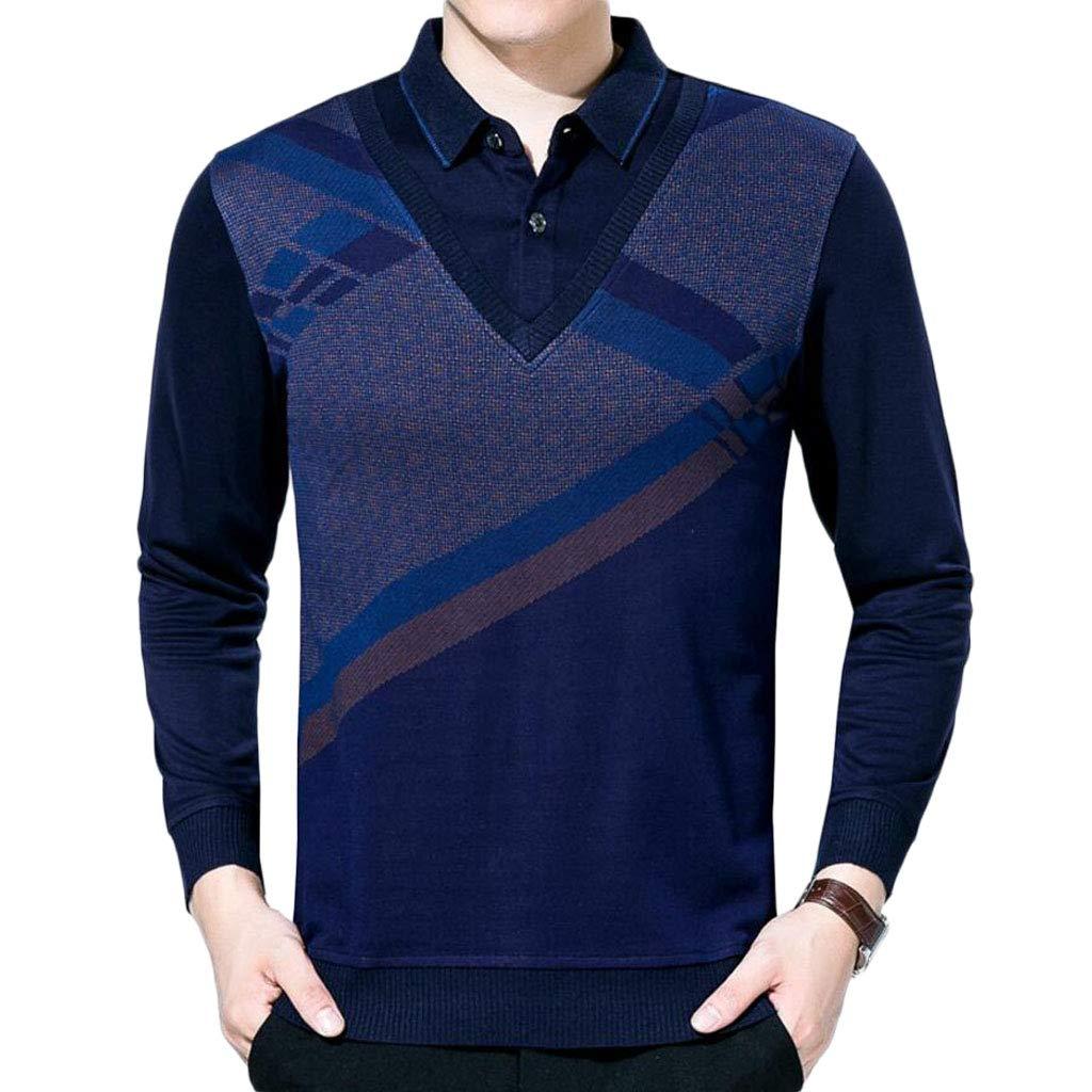 DAFREW Chaleco de los Hombres suéter de Punto 8ce5d4ae141
