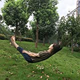 Bold Portable Mesh Simple Comfortable Nylon Hammock Outdoor Recreation Hanging Bed^Army Green