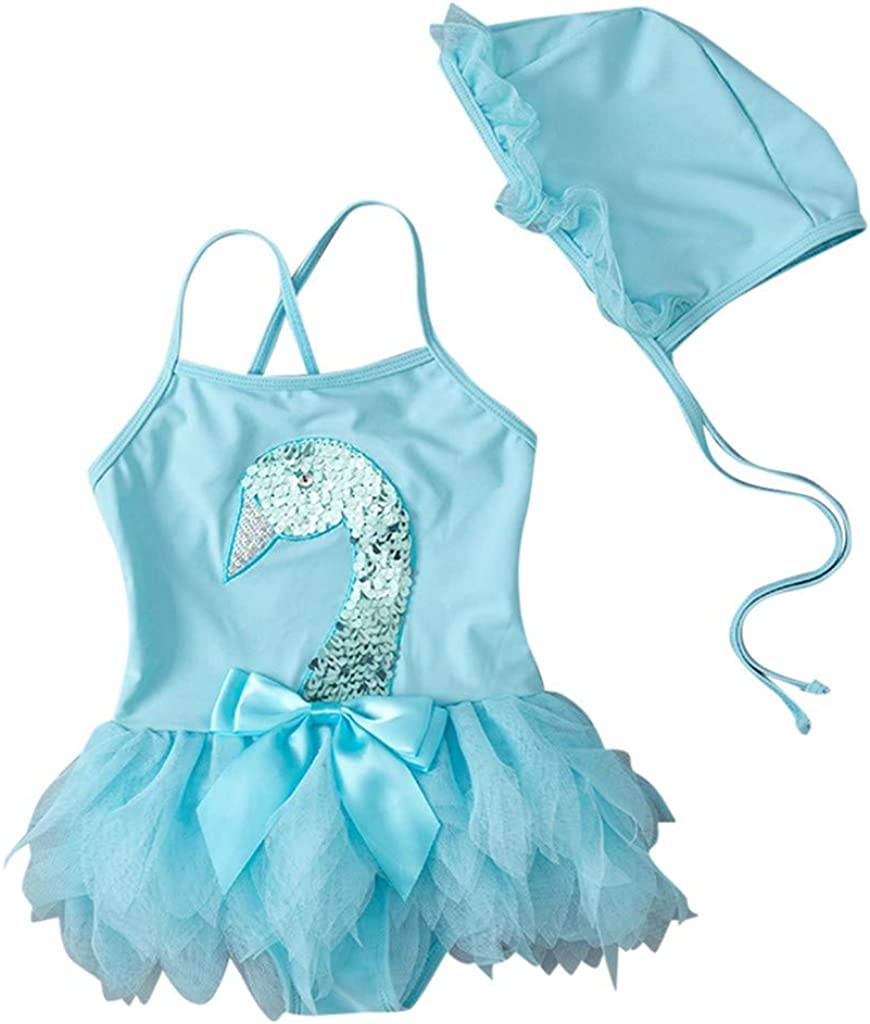 Baby//Toddler Girls Bikini 1-Piece Swimsuit with Bow Vest Summer Swimwear Swimsuit Romper Jumpsuits