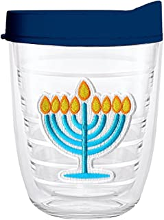 product image for Smile Drinkware USA-MENORAH 12oz Tritan Insulated Tumbler With Lid and Straw