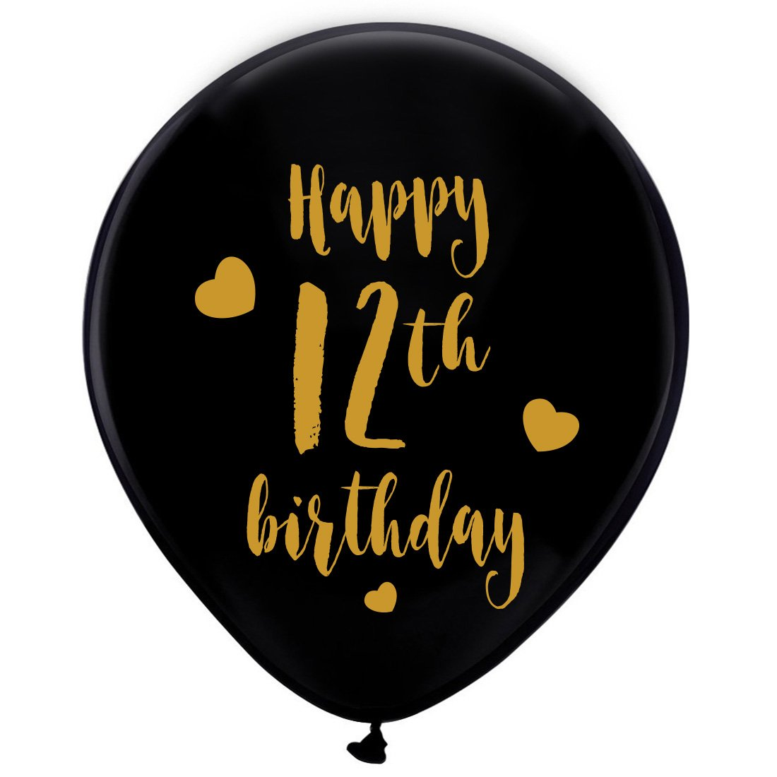 Amazon Black 12th Birthday Latex Balloons 12inch 16pcs Girl Boy Gold Happy Party Decorations Supplies Toys Games