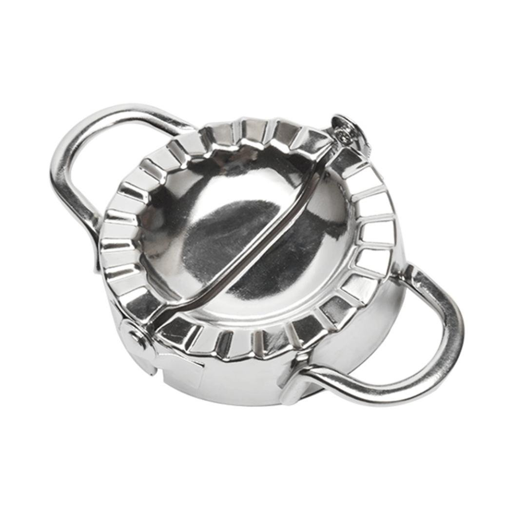 Dumpling Mould,Lovewe Pastry Tools Stainless Steel Dumpling Maker Dough Cutter Dumpling Mould For The New Year(Silver) by Lovewe_Dumpling Mould (Image #5)