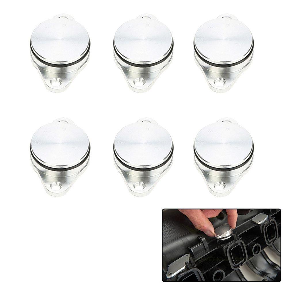 Cikuso Valvola di aspirazione Motore 6 x 33mm con Tappo modificato//Vortex Diesel Bianco per BMW