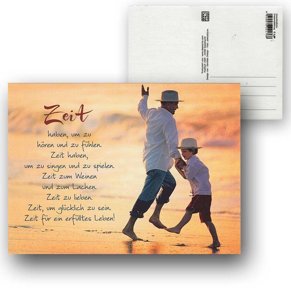 Cartolini Postkarte Karte Sprüche Zitate 15,5 X 11,5 Cm Zeit Haben Um Zu  Hören Und Zu Fühlen: Amazon.de: Bürobedarf U0026 Schreibwaren