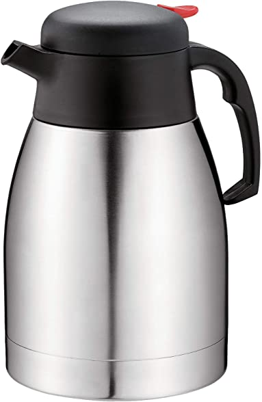 Premium Double Wall vacuum insulated Thermal Jug/ideal for Coffee, Tea, Milk with 1.2 Liters (41 fl. Oz) Capacity keeps liquids hot or cold