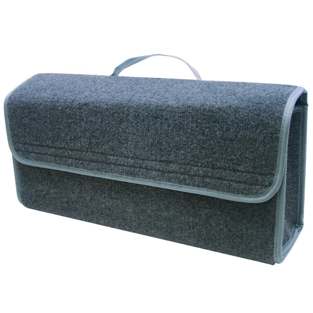 ProPlus 540227 Kofferraumtasche grau Kofferraum Auto KFZ Tasche Werkzeugtasche Werkzeugkoffer mit Klettband grau Organizer Toolbag