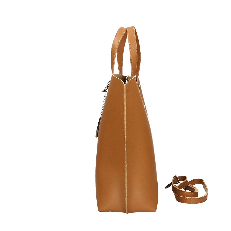 Chicca Borse Sac /à main en cuir v/éritable Made in Italy 47x30x14 cm