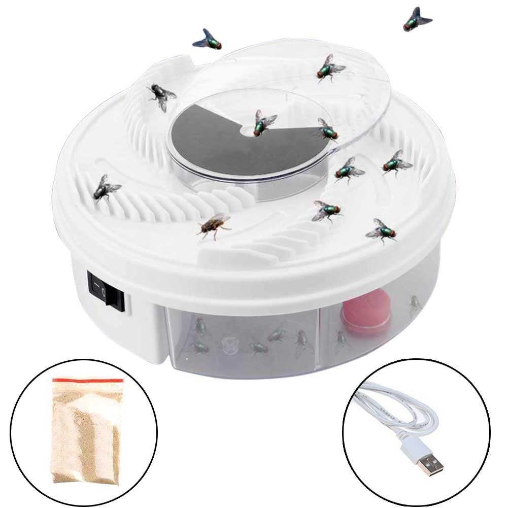 Starall Voler Mouches Électrique Mosquito Bug Midges Catcher Dispositif avec Le Piégeage du Cble USB De Nourriture pour Le Restaurant d'Hôtel à La Maison (1 Pcs)