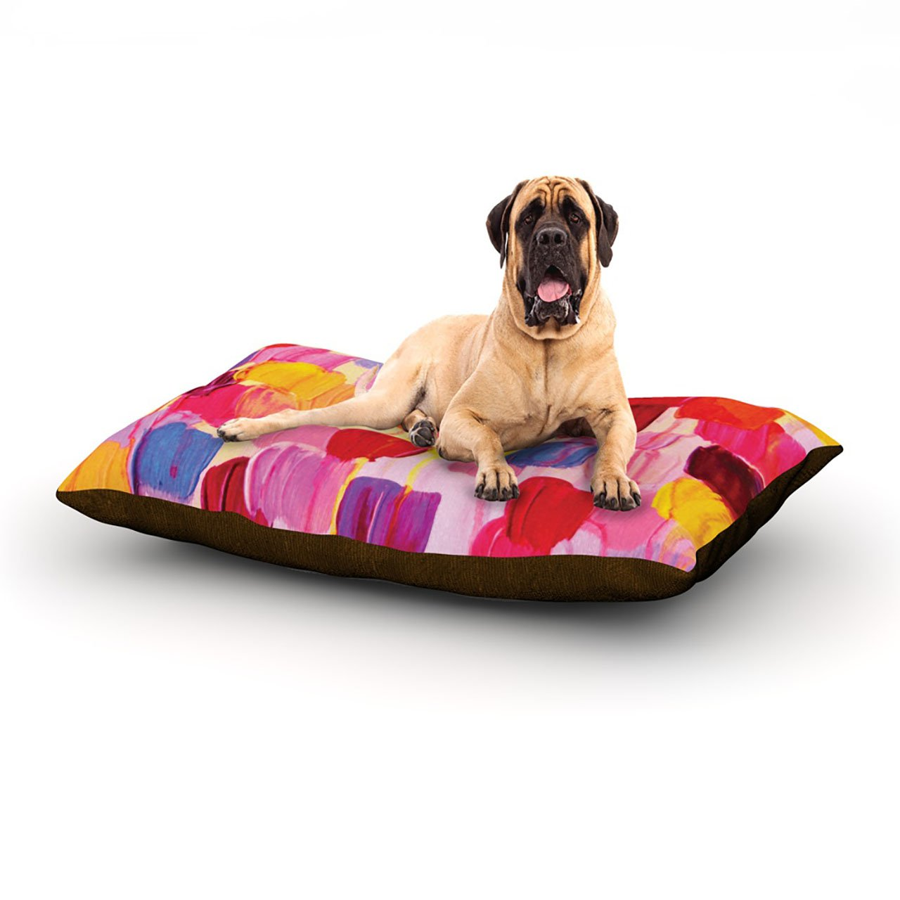 Dotty in Pink X-Large 40\ Dotty in Pink X-Large 40\ Kess InHouse Ebi Emporium Dotty in Pink  Dog Bed, 50 by 60-Inch