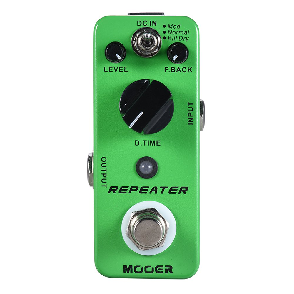 Muslady MOOER REPEATER Digital Delay Guitar Effect Pedal 3 Modes True Bypass Full Metal Shell by Muslady