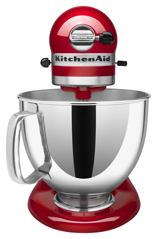KitchenAid KSM150PSER Artisan Tilt-Head Stand Mixer with Pouring Shield, 5-Quart, Empire Red by KitchenAid (Image #3)