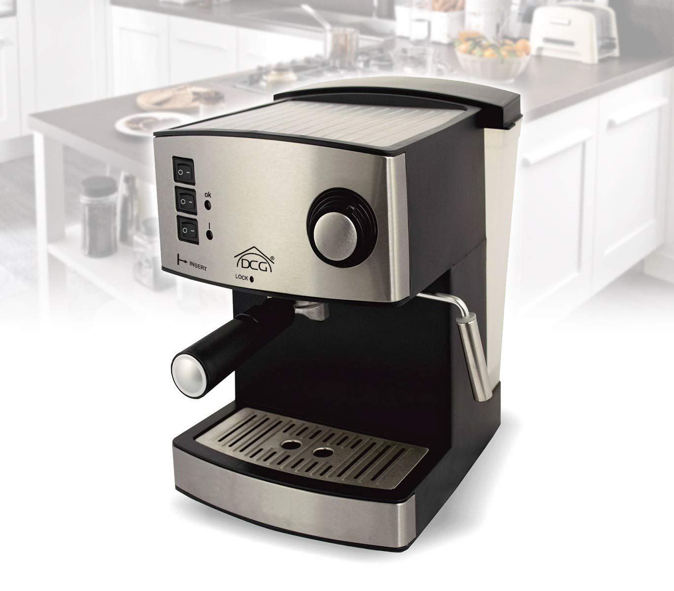 Dcg Es6514 Cafetera Espresso Y Capuchino Con Caldera De Aleación ...