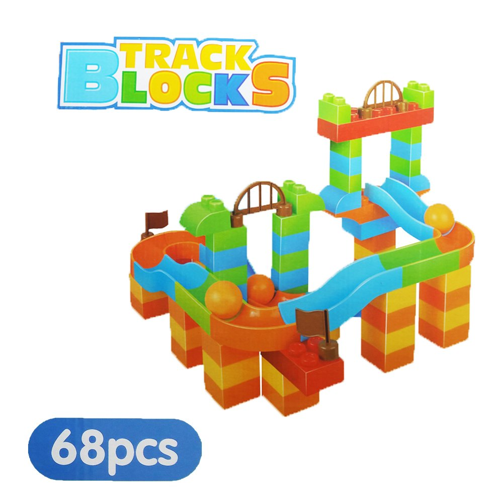 fapajo – 68個教育パズル建物ブロックトラック – Marble Run Toy for Ages 3 +   B06Y5ZTY4S