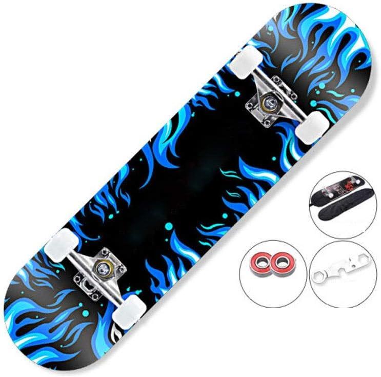 スケートボード、プロのロングボード四輪スケートボード、ダブルロッカー大人の若者ダブルロッカースクーター、さまざまなシーンのタキシングに適しています 青 80*20*10cm