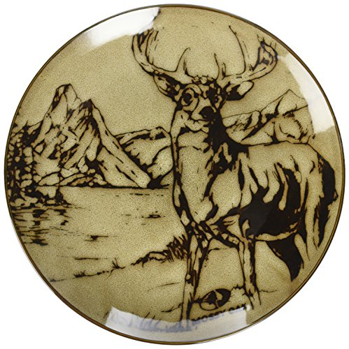 Mossy Oak Animal Print Deer Salad Plate,