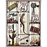 Imán Set de 9 piezas - Route 66 Desert Survivor