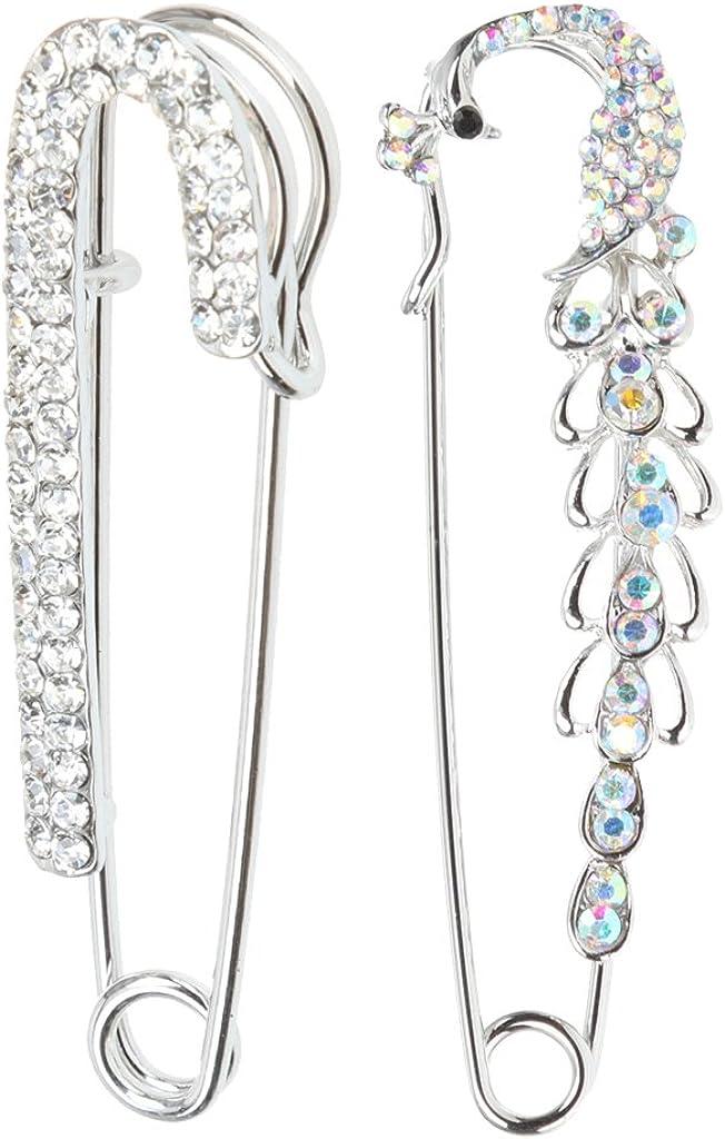 Sharplace 2pcs /Épingle /à Nourrice de Perles Strass Fleur Charme Broche de S/écurit/é dargent