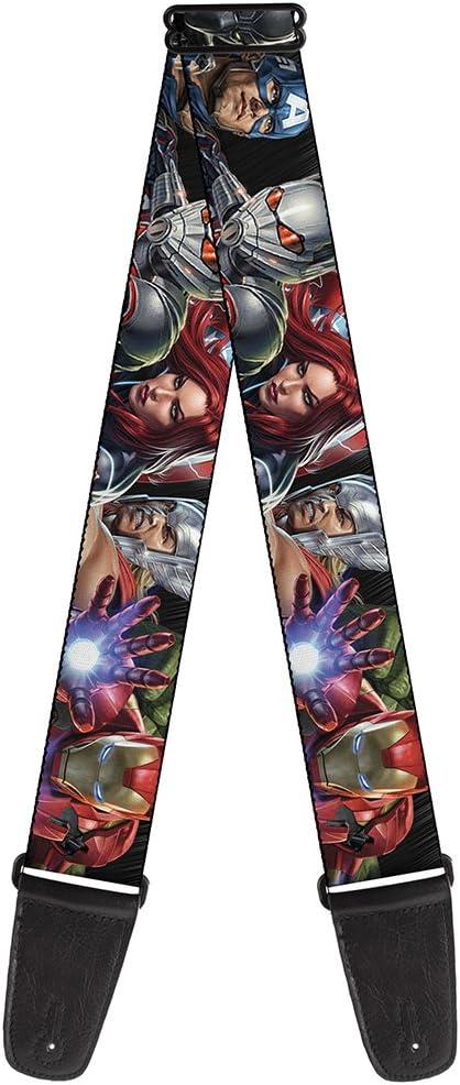 /7-vivid Avengers Action poses 137,2/cm de long 5,1/cm de large et 29 Buckle-down Gs-wav076/Sangle de guitare/