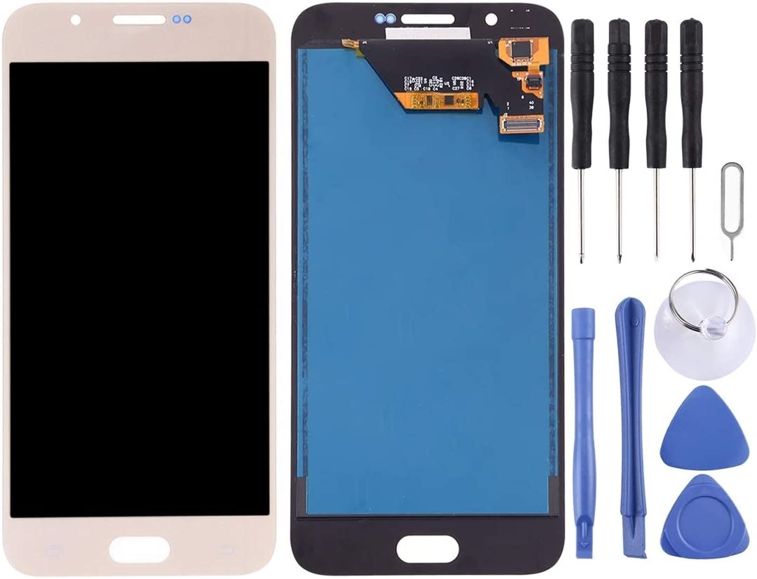 Color : Gold TFT Material Black for Galaxy A8 YANGJ Phone LCD Screen LCD Screen and Digitizer Full Assembly