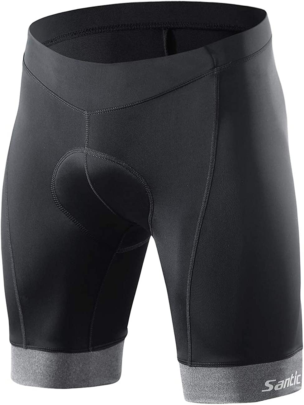 Santic Biking Shorts Men Cycling Shorts Padded Bike Shorts Quick Dry Bicycle Wear US X-Large