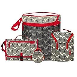 Skip Hop Grab and Go Wet-Dry Bag, Hearts