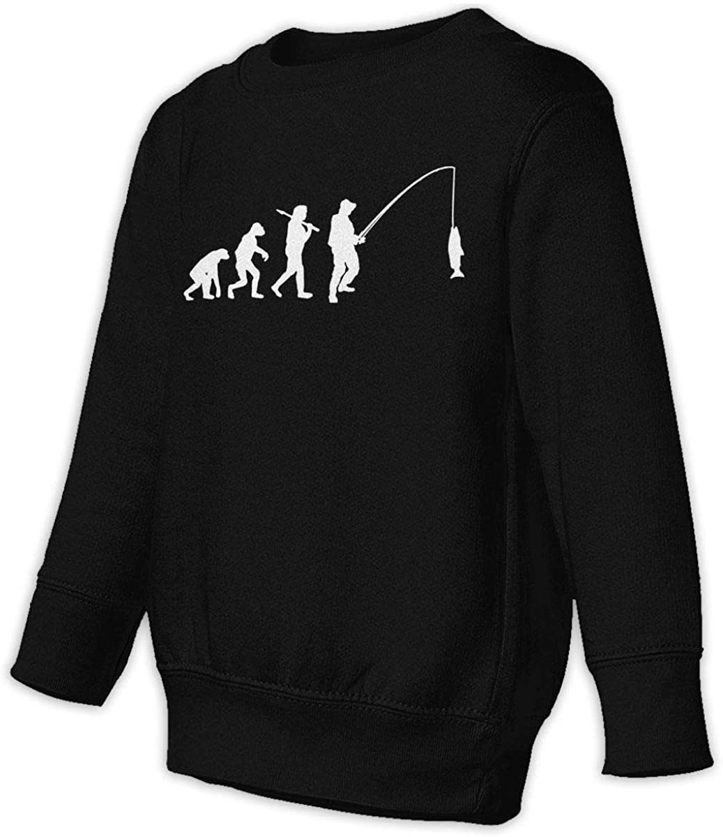 wudici Evolution of Fisherman Fishing Boys Girls Pullover Sweaters Crewneck Sweatshirts Clothes for 2-6 Years Old Children