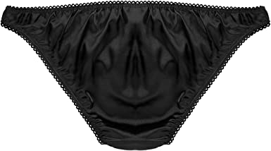 Mens Shiny Satin Sissy Pouch Skirted G-string Thong Underwear Panties Gifts