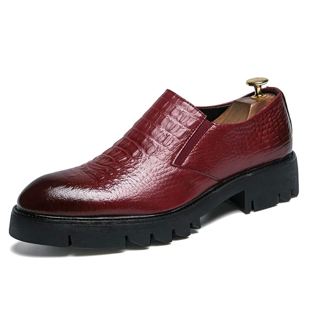 estar en gran demanda Rojo 38 EU CHENDX CHENDX CHENDX Zapatillas, Zapatos nuevos Formales de Oxford con diseño Grueso para Hombres Nuevo Oxford Informal y Impermeable para Hombres (Color   Rojo, tamaño   38 EU)  de moda