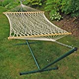 Rope Hammock and Stand Combo Set