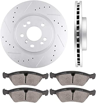 Front Brake Rotors Discs For Mercedes-Benz R320 2007 2008 2009 Drill and Slot