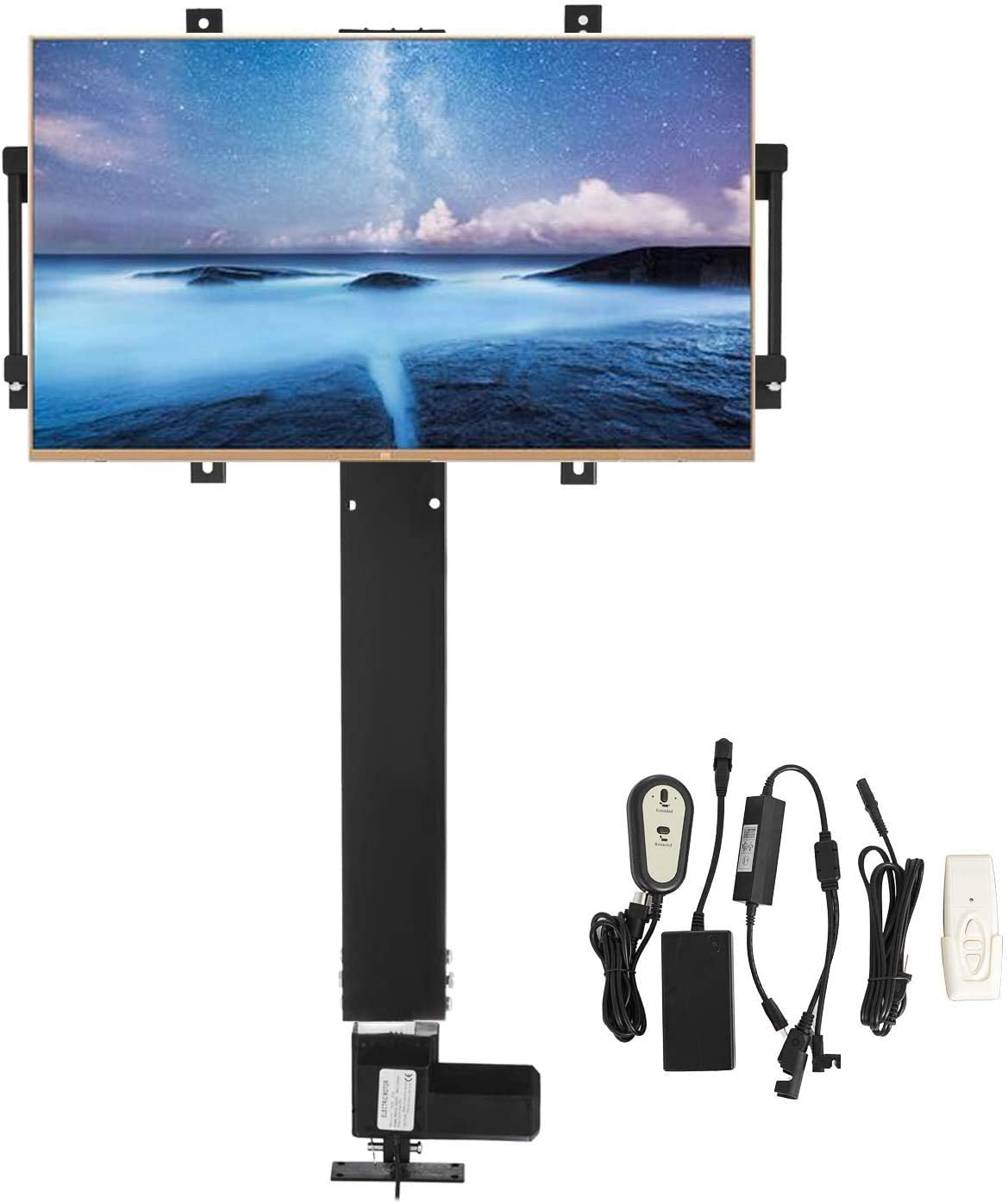Mophorn TV Lift Stand Motorized 31.5 Stroke TV Lift Mount Bracket for 32 – 60 Flat Screen LCD LED OLED Plasma TVs Heavy Duty Electric TV Mount Motorised TV Lift Mechanism