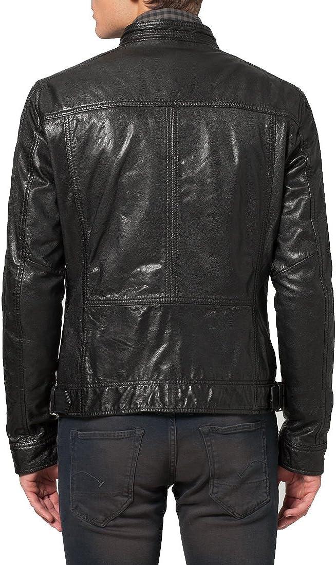 Kingdom Leather New Mens Genuine Lambskin Leather Slim Fit Biker Motorcycle Jacket for Men X380