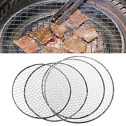 Manyo desechable BBQ Rejilla de Barbacoa Cesta inalámbrico de Enrejado metálico Carne Pescado hortalizas Barbacoa Herramienta