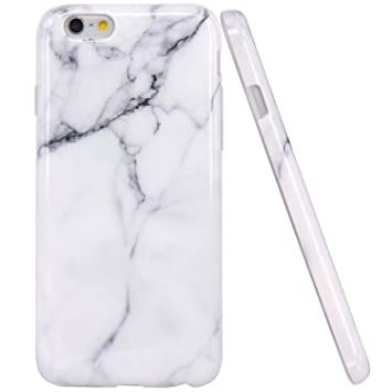 JIAXIUFEN iPhone 6 Funda, Funda de Silicona Suave Case Cover Protección Cáscara Soft Gel TPU Carcasa Funda para Apple iPhone 6 6S - Blanco Mármol ...