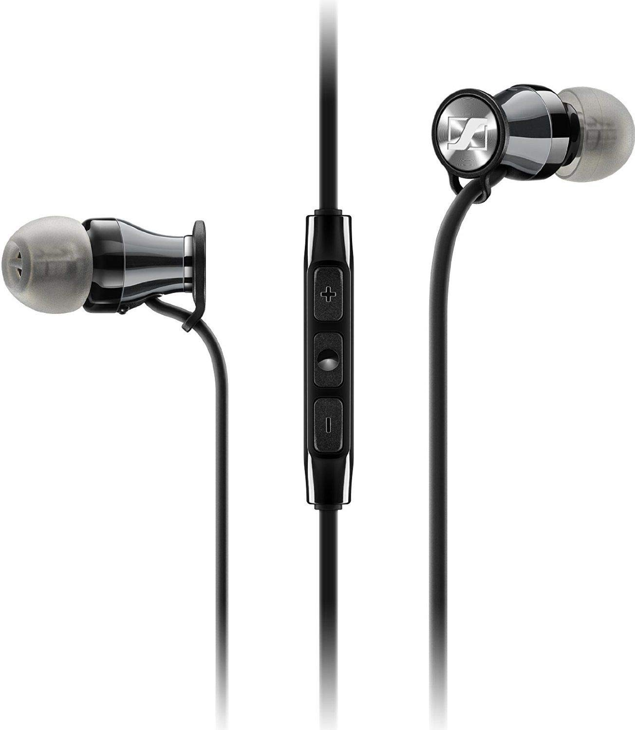 Sennheiser Momentum In-Ear Headphones (Black/Chrome) For
