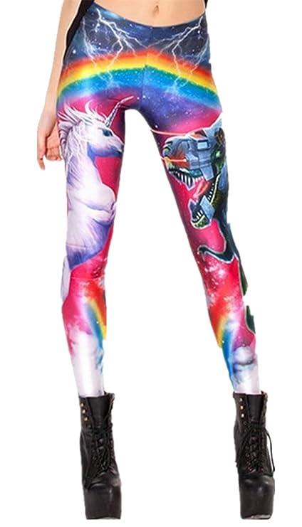 Women's Unicorn Rainbow Spandex Leggings, one size
