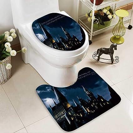 Harry Potter Bathroom | Amazon Com Huawuhome 2 Piece Bathroom Mat Set Harry Potter