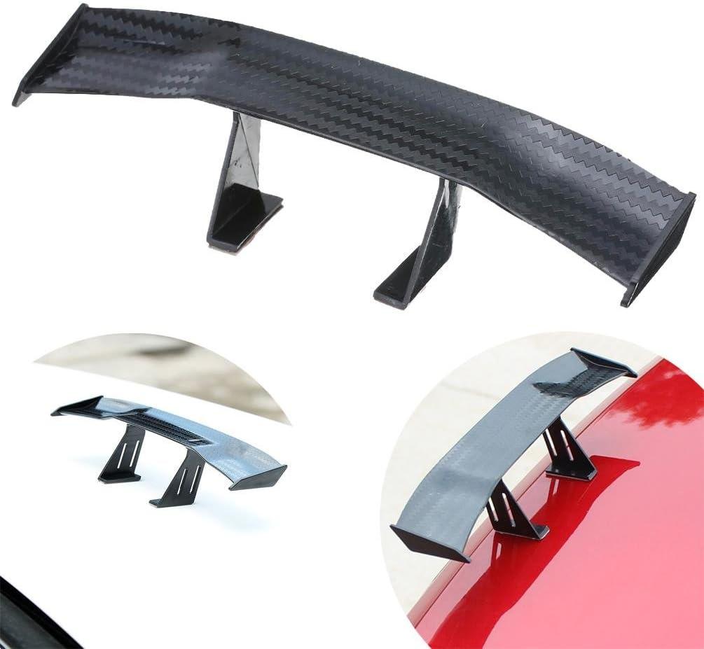 Bravewind 1 X Mini Spoiler Flügel Karbonfaser Auto Heck Dekoration Spoiler Flügel Zubehör Auto