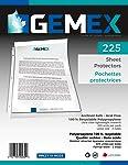"Gemex PPC2119-W225 Premium Ultra Clear Sheet Protectors, Fits 8.5 X 11"" Sheet, 225 Per Pack"