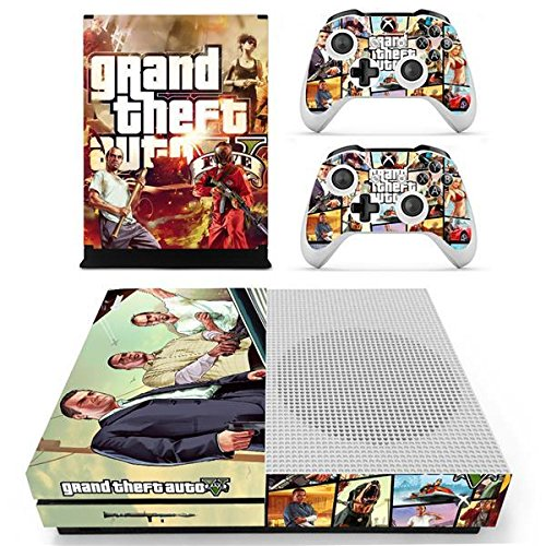 XBox One Slim + 2 Controller Design Sticker Protector Set - GTA V /One S