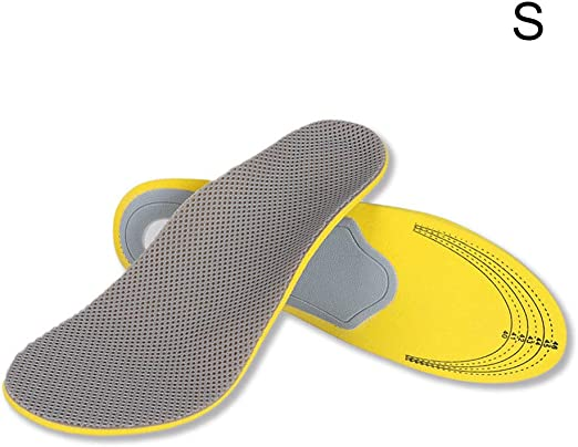 Pair 3D Premium Durable Orthotic Shoes Insoles Inserts High Arch Support