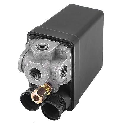 Sourcingmap - 175 psi 12 bar válvula de control de interruptor de presión de 4 puertos