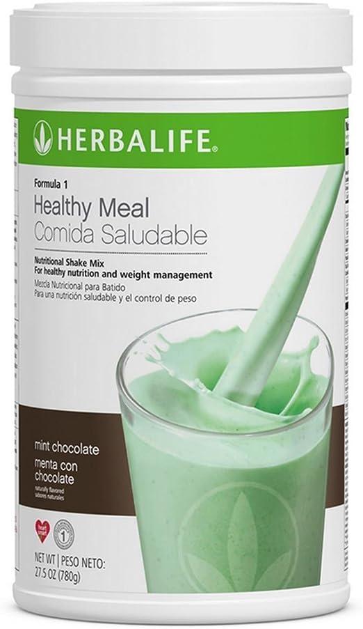 Herbalife Fórmula 1 Healthy Meal Mezcla de batido nutricional (10 sabores) (chocolate de menta)