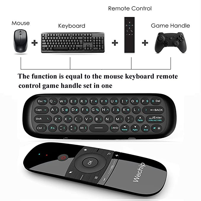 Mini Air Remote,Wechip Wireless Keyboard 2 4G Smart TV Fly Mouse W1  Multifunctional Remote Control for Android TV Box/PC/Smart