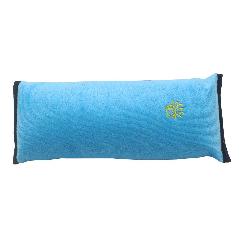 Childhood Seat Belt Shoulder Pad Soft Seat Belt Neck Pillow Adjustable Belt Cushion for Children Kids (Claret)