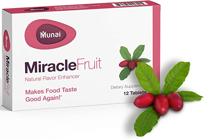 Munai Miracle Berry Tablets - [12 Count] Flavor Changing Tablets That are Natural, Non-GMO Formula Specially-Designed to Enhance Wellness and Quality of Life, Fast Activating Miracle Fruit Tablets