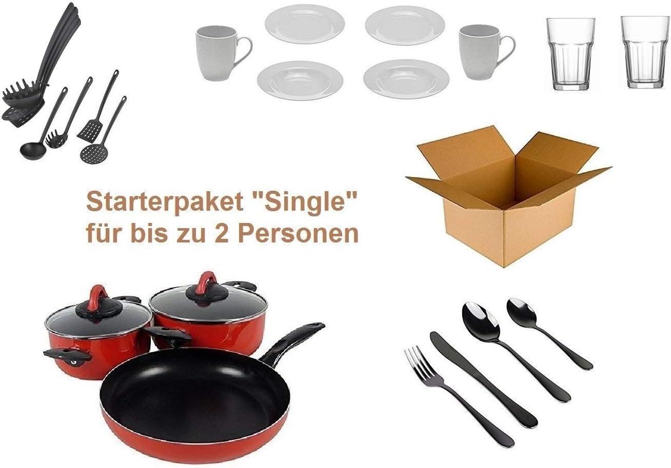 """Haushalt Starterset """"17 Personen"""" - Wohneinrichtung Starterpaket -  Einrichtungspaket - (Küche, Besteck, Geschirr)"""
