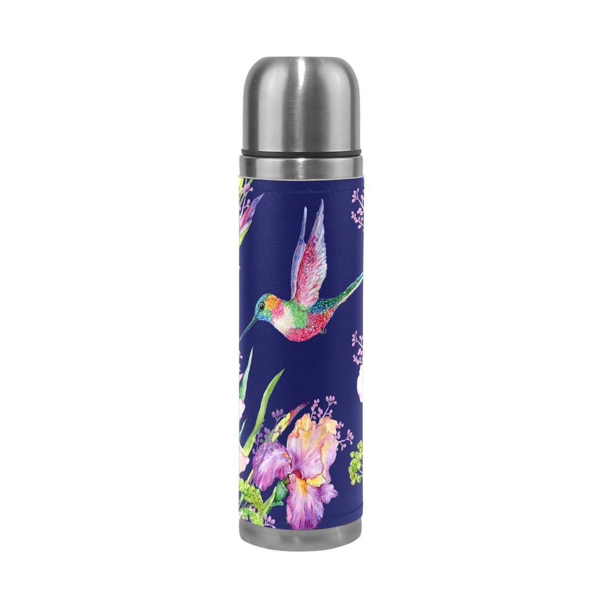 JSTEL Water Bottle Vacuum Insulated Leak Proof Double Vacuum Bottle for Hot Coffee or Cold Tea + Drink Cup Top 500ml
