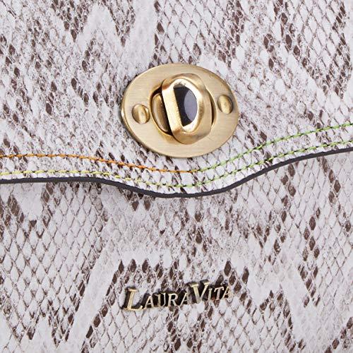 LAURA VITA dam 3382 tornisterväska, beige (beige), 11 x 22 x 32 cm